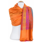 étole orange pashmina motifs 1
