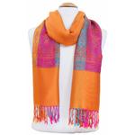 étole orange pashmina motifs 4