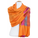 étole orange pashmina motifs 3