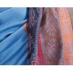 étole bleu gris pashmina motifs 3