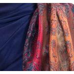 étole bleu marine pashmina motifs 4