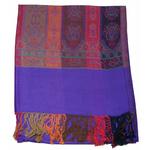 étole violet  pashmina motifs 1