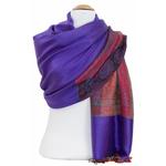 étole violet  pashmina motifs 4