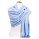 étole femme bleu ciel cachemire laine charlie 2