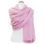étole femme rose clair cachemire laine charlie 2