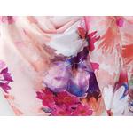 grand carre de soie rose fleuri anicé 4