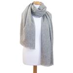 Etole cachemire laine gris clair 2