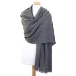 Etole cachemire laine gris fonce 1