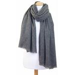 Etole cachemire laine gris fonce 2