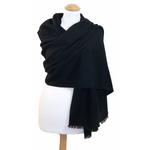 Etole cachemire laine noir 1