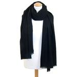 Etole cachemire laine noir 2