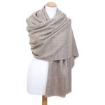 Etole cachemire laine beige 1
