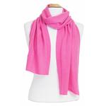 écharpe en cachemire rose blush 1