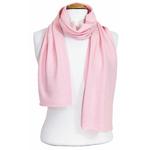 écharpe en cachemire rose pastel 1