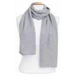 écharpe en cachemire gris clair 1