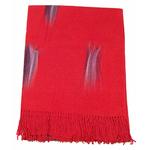 étole rouge cachemire laine plume 1