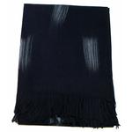 étole noir cachemire laine plume 1