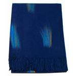 étole bleu marine cachemire laine plume 1