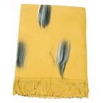 étole jaune moutarde cachemire laine plume 1