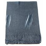 étole grise cachemire laine plume 1