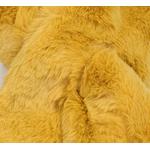 écharpe femme jaune fausse fourrure 2