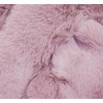 écharpe femme rouge rose  fourrure 2