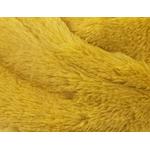 echarpe snood jaune fausse fourrure 2