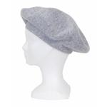 beret gris clair cachemire 1