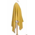poncho beige jaune moutarde réversible 4