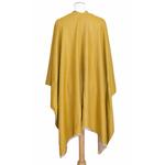 poncho beige jaune moutarde réversible 5
