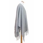 poncho cachemire laine gris 2