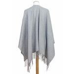 poncho cachemire laine gris 3