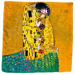 carré en soie le baiser jaune klimt