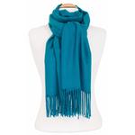 étole bleu canard femme cachemire laine 3