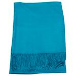 étole bleu canard femme cachemire laine 4