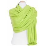 étole vert anis femme cachemire laine 2