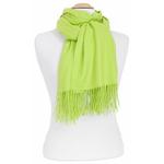 étole vert anis femme cachemire laine 4
