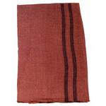 étole femme brique laine fine rayures 1