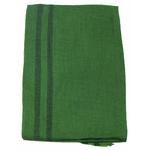 étole femme verte laine fine rayures 1