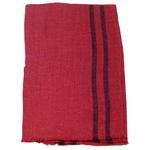 étole femme rouge laine fine rayures 1