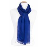 étole femme bleu marine mousseline de soie