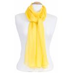 étole femme jaune mousseline de soie