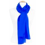 étole bleu vif mousseline de soie