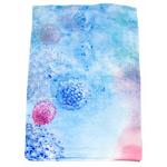 étole en soie bleu fleurs hortensia
