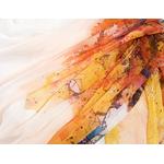 étole femme mousseline soie orange arbres