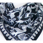 foulard carré soie noir femme sathya