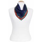 foulard soie carré femme marine mini tulipes