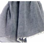 foulard gris coton froissé homme femme