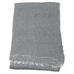 foulard coton gris femme homme