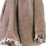 foulard beige coton froissé homme femme